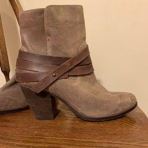 Aldo tan mini bootie with brown strap